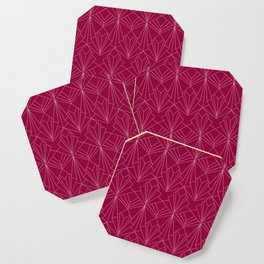 Art Deco in Raspberry Pink Coaster