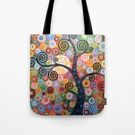 Abstract Art Landscape Original Painting ... Dreaming of Magic Tote Bag