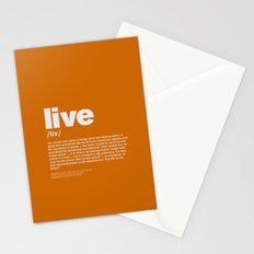 definition LLL - Live 10 Stationery Cards