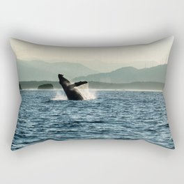 Humpback Whale Photography Print Rectangular Pillow