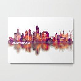 Amsterdam Netherlands Skyline Metal Print