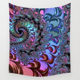 Metallic Fractal Wall Tapestry