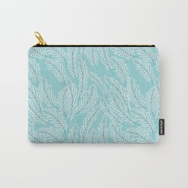 Pattern with delicate white flowers Carry-All Pouch