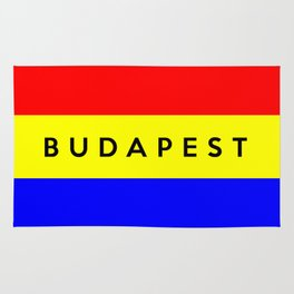 Budapest city Hungary country flag name text Rug