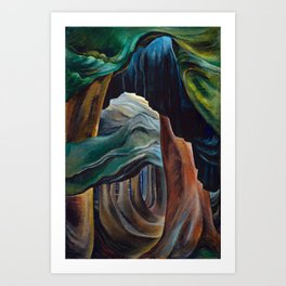 Emily Carr - Forest, British Columbia - Canada, Canadian Oil Painting - Group of Seven Art Print