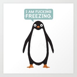 Talking Penguin Art Print