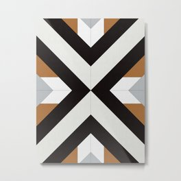 Geometric Art with Bands 12 Metal Print