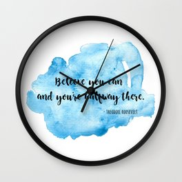 Inspirational life quote Wall Clock