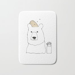 Honey Bear Wave Bath Mat