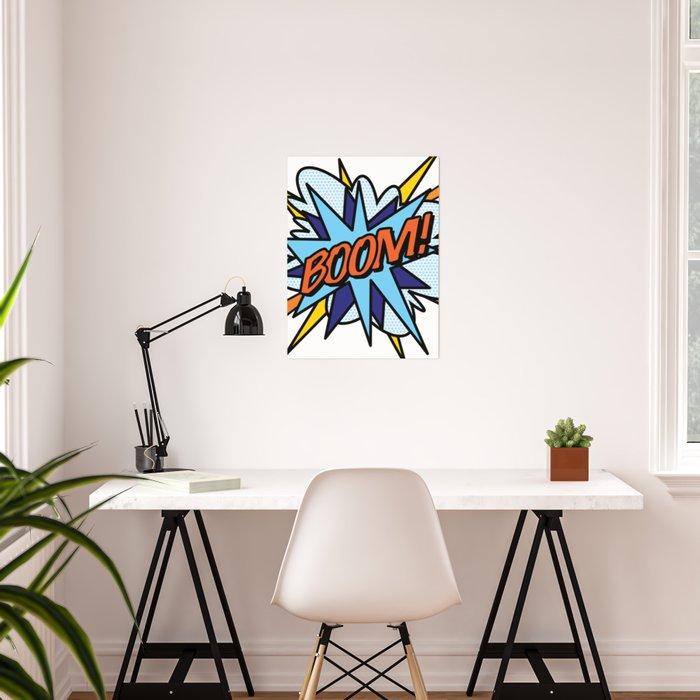 Comic Book Pop Art BOOM Poster