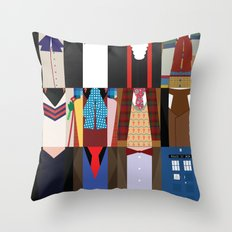 The Doctors - Doctor Who & TARDIS Throw Pillow