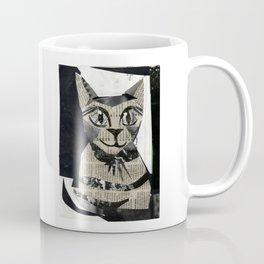 Newspaper Cat Coffee Mug