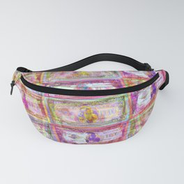 540 Million Dollars Red Pastel Fanny Pack