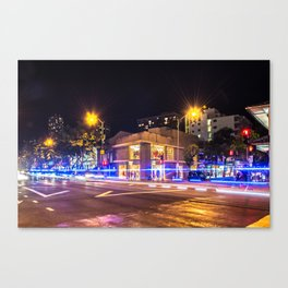 Waikiki at night  - Hawaii Canvas Print