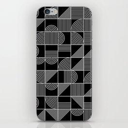 Black and White Random Tile 1 iPhone Skin