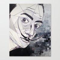 dali Canvas Prints featuring Dali by Giovanna Diz Zurita Gallery