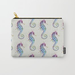 Seahorse : Purple Natural Carry-All Pouch