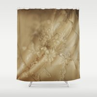 lace Shower Curtains featuring Lace by Sushibird
