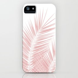 Blush Pink Palm Leaves Dream - Cali Summer Vibes #1 #tropical #decor #art #society6 iPhone Case