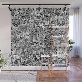 gargoyles black white Wall Mural
