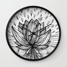 The Immortal Lotus Wall Clock