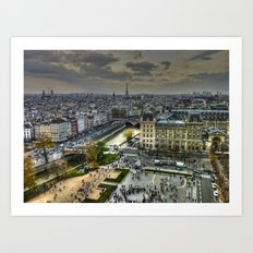 City of Paris Art Print