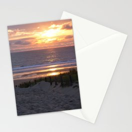 evening at the beach Stationery Cards