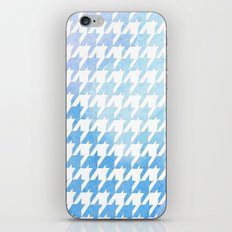 Houndstooth blue watercolor iPhone & iPod Skin