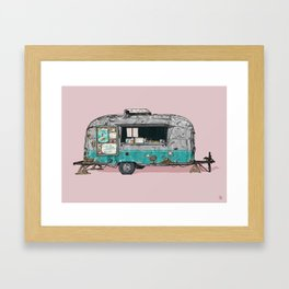 Bullet Ice Cream Caravan Framed Art Print