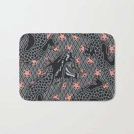 Hidden Dragon / Oriental dragon design Bath Mat