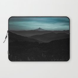 Ice Blue Mountainscape Laptop Sleeve