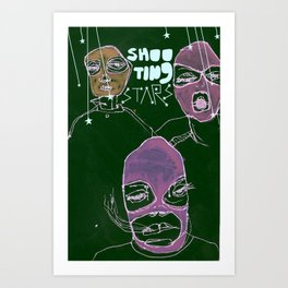 shooting stars an the rebels. Art Print