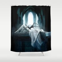 demon Shower Curtains featuring Demon by Joe Roberts