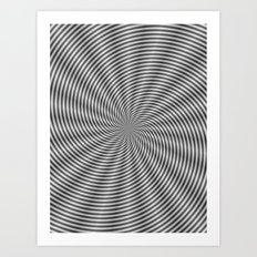 Spiral Rays in Monochrome Art Print
