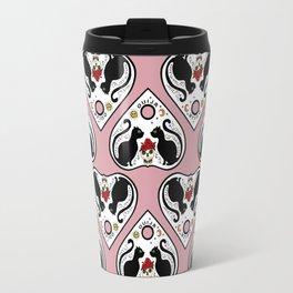 Cat Ouija (pink) Travel Mug
