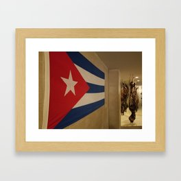Cuban Flag Framed Art Print
