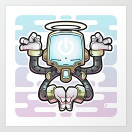 CONNECT_Bot022 Art Print