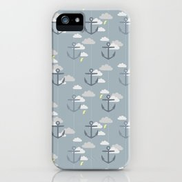 Stormy Nautical Pattern 2 iPhone Case