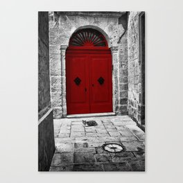 The Red Door | Mdina | Malta Canvas Print