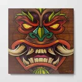 Tiki Head Style 4 Metal Print