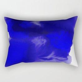 Blue Watercolor Abstract Rectangular Pillow