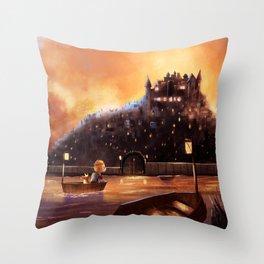 The Evil city Throw Pillow