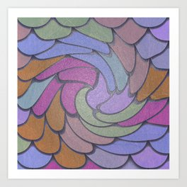 Twisted Scales Art Print