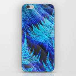 Icy Blue Ferns Nature Fantasy iPhone Skin