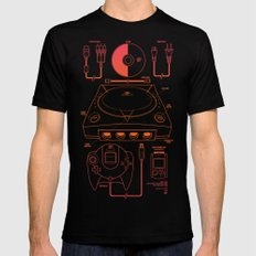 Dream Machine Mens Fitted Tee MEDIUM Black