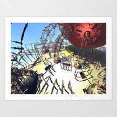 Orange mécanique Art Print