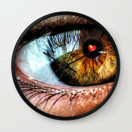 Eye see Love Wall Clock