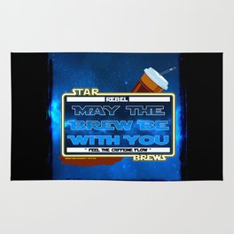 May the Brew be with You - The Coffee Wars - Jeronimo Rubio Photography and Art 2016 Rug