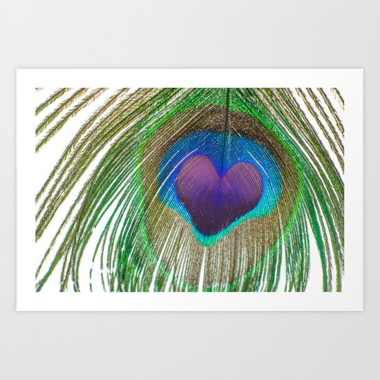 Peacock Love Art Print