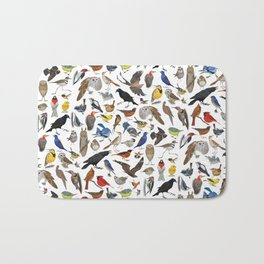 Bird Pattern Bath Mat